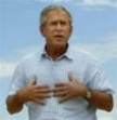 George W. Bush supports breast cancer self-exam efforts.
