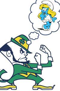 5745b1420 Notre Dame Leprechaun admits to never meeting Smurfette girlfriend