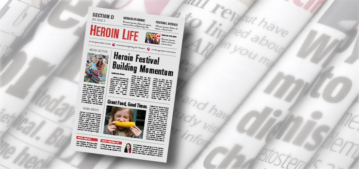 America's newspapers devote permanent section to heroin news
