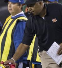 Marvin Lewis� wife sick of constant throwing of challenge flag around house
